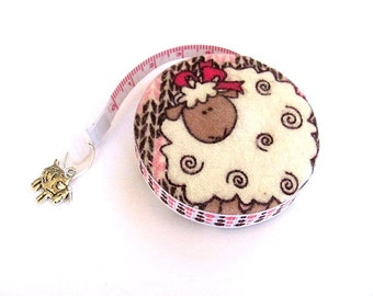 Tape Measure Soft Flannel Sheep Retractable Measuring Tape