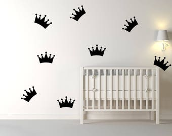 Princess Crown Wall Decal, Crown, Nursery Wall Decal, Kids Wall Decal, Wall Vinyl Decal, Wall Decal, Wall Decor, Vinyl Decal, Princess Crown