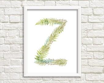 Letter Z printable/ instant download