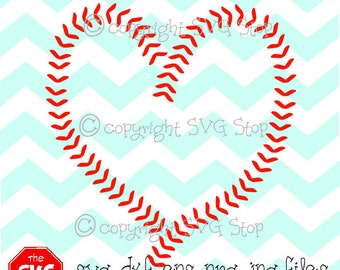 Baseball heart stitching SVG and studio files for Cricut, Silhouette, Vinyl Cutters and Screen Printing