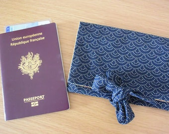 Japanese fabric, passport Pocket