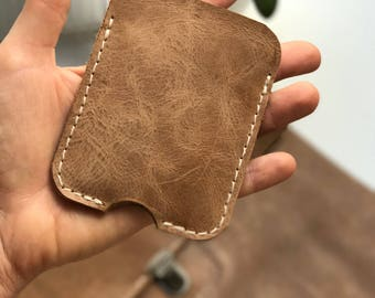 Leather Credit Card Holder ,Handmade,Natural leather