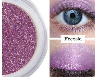 Purple Eyeshadow, Mineral Eye Color, Shimmer Finish, Intense Colors, Make Up Eyeshadow, Loose Eye Shadow, Vegan Makeup, Vibrant, FREESIA