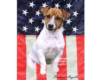 Jack Russell Terrier Patriotic Flag, Jack Russell Terrier Gift, Jack Russell Terrier Flag, Jack Russell Terrier