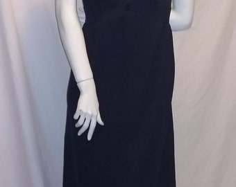 Vintage 1960's puritan forever young long black sleeveless dress
