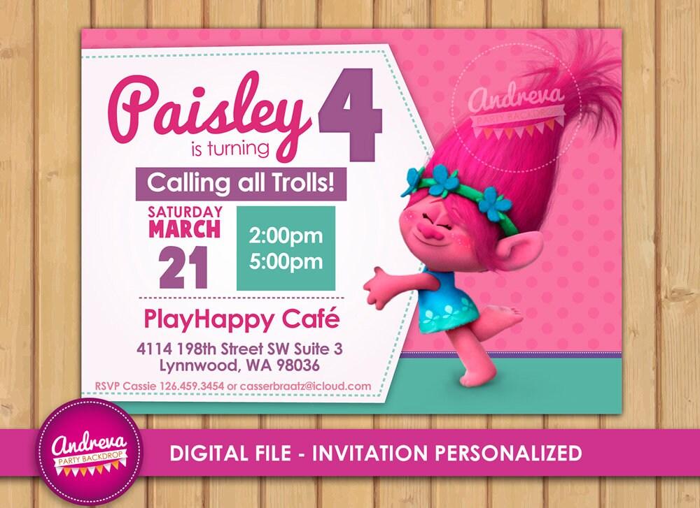 Invitaciones De Trolls