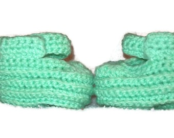 Mint Green Strappy Baby Shoes, Size 6 to 12 months, Baby Booties,  Doll Shoes