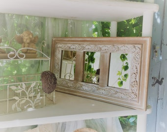 Shabby distressed mirror / 3 mirror wall hanging