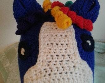 Handmade crochet pony hat