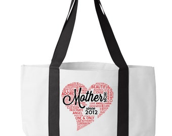 Canvas Tote Bags For New Moms And All Moms, Personalized Gifts