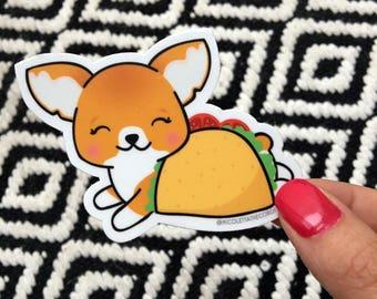 Corgi Taco Vinyl Sticker