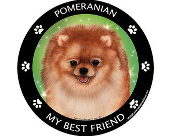 Pomeranian Red My Best Friend Dog Magnet