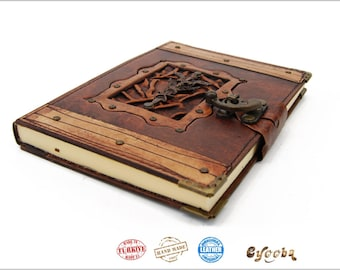 Leather Journal with Sword - Large