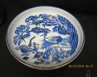 Made in Japan Blue Heron Dish/Bowl