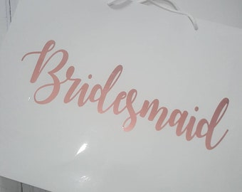 Personalised bridesmaid gifts bags, bridesmaid gifts, gift bags, bridesmaid box, maid of honour gift, large gift bag, bridal party gifts