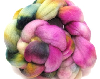 Merino Wool Hand Dyed Fine Combed Top Roving 21 Micron 100gms - FM57