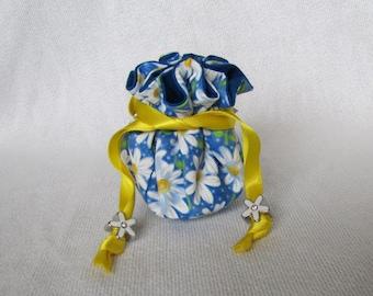 Jewelry Bag - Mini Size - Travel Pouch - Fabric Jewelry Pouch - Tote - AMAZING DAISY