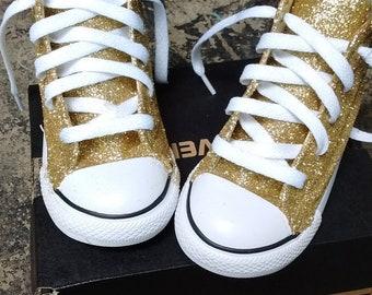 Custom Glitter High Top Converse