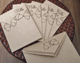 Acorn Note Card Set (6)