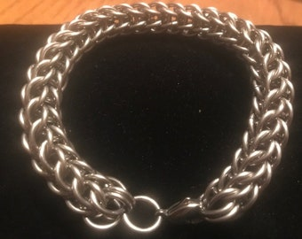 Men's Full Persian Stainless Steel Chainmaille Bracelet