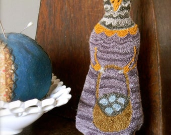 """the Punch Needle Folk Series ~ """"Claudia Cluck"""" PAPER/Mailed Pattern ~ from Notforgotten Farm™"""