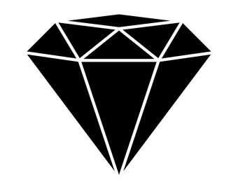 diamond silhouette etsy rh etsy com diamonds clipart no background diamond clip art outline