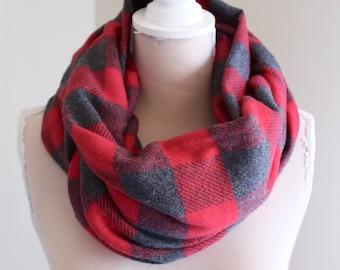 Plaid flannel scarf | Buffalo plaid scarf women| Buffalo circle scarf |Plaid infinity scarf |Women circle scarf |Circle scarf|Infinity scarf