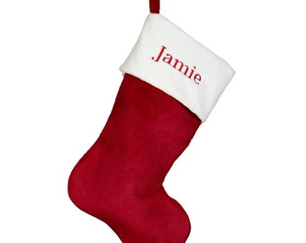 Personalized Christmas Stockings, Embroidered Christmas Stockings, Plush Christmas Stockings, Custom Christmas Stockings, X-Mas Stockings