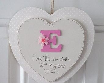 Personalised Initial heart plaque