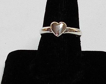 Silver Heart Ring, Sterling Silver Heart Ring, Silver Stacking Heart Ring,