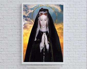 Virgin Mary Virgen Maria Virgencita Celestial Limited Artwork