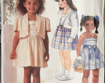 Vintage Girls' Jacket and Dress Pattern (McCall's 2354) Size 3,4,5