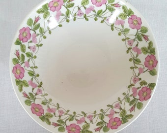 Wonderful vintage tornrosa bowl by Margareta Hennix /Calle Blomqvist for Gustavsberg -  made in Sweden 1968-70.