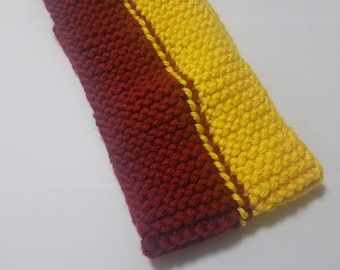 Burgundy and Gold Cowl Neck/Infinity Scarf