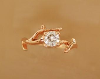 Twigging Elegance, engagement ring,alternative engagement ring,twig ring,twig engagement ring,branch and,twig band