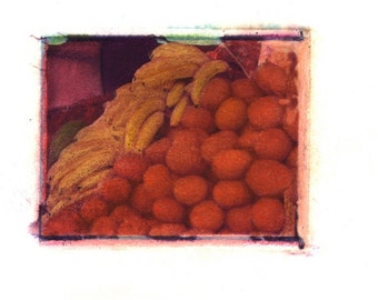 Fruta Fresca -  Archival Print of an Original Polaroid Transfer, Signed Limited Edition 8x10 Matted