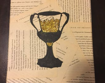 Helga Hufflepuff Cup Harry Potter 8X10 Canvas