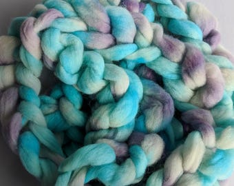 """Combed Top Babydoll Southdown / Alpaca for Spinning & Needle Felting 4 Oz Fiber """" Imagine  """" (2 available) Roving"""