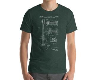 Gibson Guitar Shirt, Bass Guitar T-Shirt, Guitarist, Musician Gift, Rock gift, Music Lover Gift, Gift for guitar player, Guitar shirts