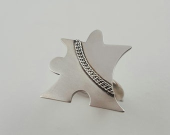 Silver Handmade Puzzle Filigree Mate & Shine Ring