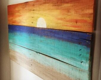 Beach House Decor - Sunset painting