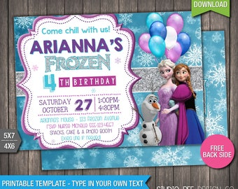 Frozen invitation etsy frozen invitation 50 off instant download printable disney frozen invite disney solutioingenieria Image collections