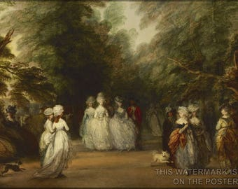 Poster, Many Sizes Available; Mall In St. James'S Park By Thomas Gainsborough C1783