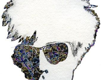 Warholian Enhanced Art Print Andy Warhol inspired