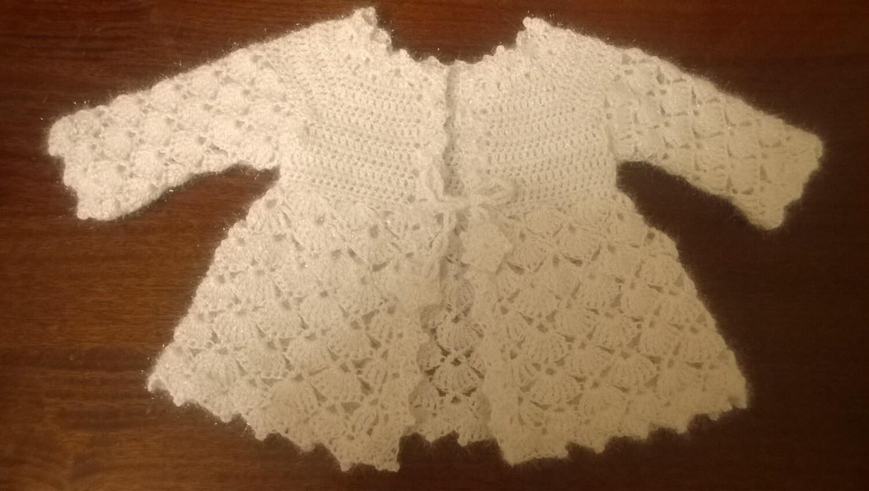 Häkeln Sie Baby Jacke weißen Pullover Baby Jacke häkeln