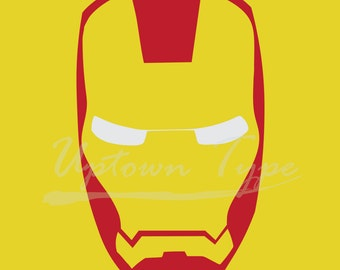 Ironman Minimalist Superhero Poster_ Digital Printable