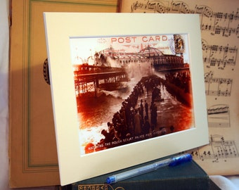 Photographic Vintage Collage of Brighton Palace Pier Mounted in a nice cream mount. A great picture to give as a gift or to keep yourself.