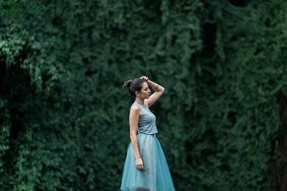 Silver Gray Tessa Saprkle Tutu Skirt
