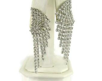 Faux Diamond Dangle Earrings