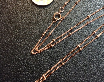 """18"""" Rose Gold-Filled Satellite Chain"""